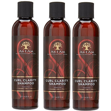 [VALUE PACK OF 3] AS I AM Naturally CURL CLARITY SHAMPOO 8oz SULFATE FREE : Beauty