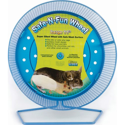 Ware Manufacturing. Inc. SAFE-N-FUN WHEEL FOR SMALL ANIMALS MULTICOLORED LARGE/11 IN