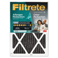 3M Filtrete Allergen Plus Odor Reduction Air and Furnace Filter, 20x24, Set of 4