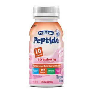 Abbott Nutrition PediaSure Peptide 1.0 Rtf Institutional Strawberry Case of 24 Bottles