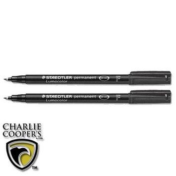 TacticalGear ST 318-9 BK2 Lumocolor Permanent Pen Fine Piece of 2 - Black