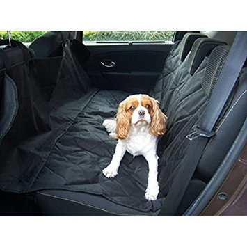 Luv Pets Co. X-Large Luxury Dog Seat Cover- Dog Hammock- Travel Car Seat Cover- Rear Seat Protector- Heavy Duty & Waterproof with Side flaps & A Free Safety Seat Belt