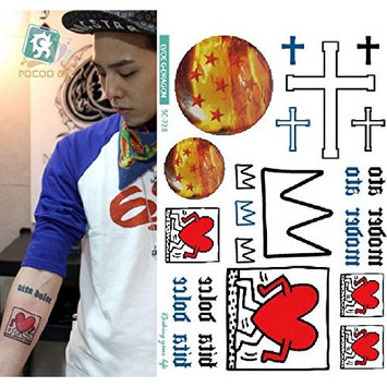 Body Art Temporary Removable Tattoo Stickers G Dragon - SC-728 Sticker Tattoo - FashionDancing
