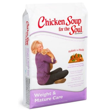 Chicken Soup For the Soul Weight & Mature Care Chicken, Turkey, Duck, Salmon & Vegetables Adult Dry Cat Food, 15 Lb