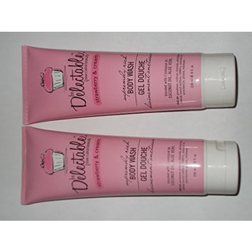 Be Delectable Cake Beauty Strawberry and Cream Body wash 2 Bottles and 1 lebiome coconut and shea sheet mask (bundle