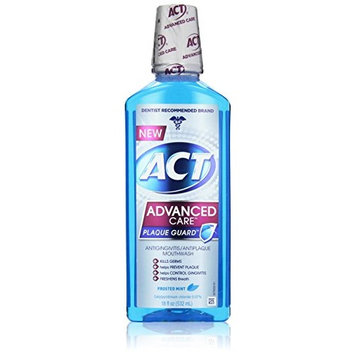 Act Advanced Care Plaque Guard Mouthwash Frosted Mint 18 Fluid Ounce Each
