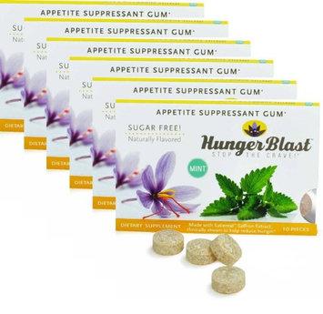 Hunger Blast Appetite Suppressant Gum, Mint Flavor 60 Count