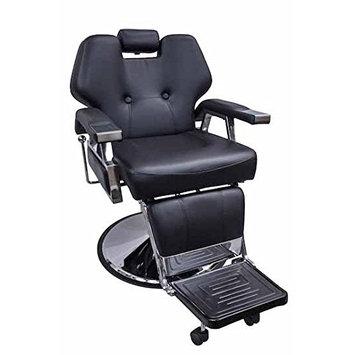 DevLon NorthWest Reclining Barber Chair Black Hydraulic Salon Deluxe Chair