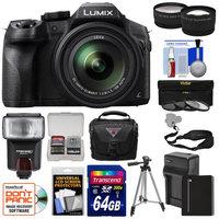 Panasonic Lumix DMC-FZ300 4K Wi-Fi Digital Camera with 64GB Card + Battery & Charger + Case + Tripod + Flash + Tele/Wide Lens Kit with PANASONIC USA Warranty