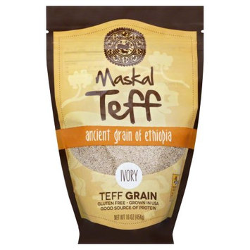 Maskal Teff Gluten Free Teff Grain, Ivory, 16 Oz