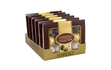 Ferrero Rocher Collections 12-Piece Fine Assorted Confections, 4.04 Oz, Pack Of 6 Boxes
