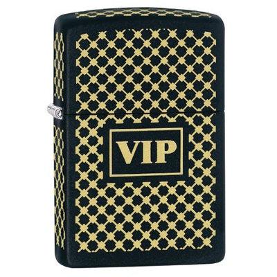 Zippo VIP Windproof Lighter, Black Matte