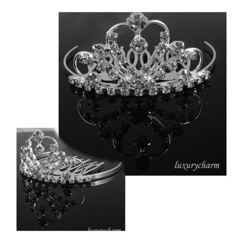 Bridal Flower Girl Prom Party Crystal Tiara Comb T6-1