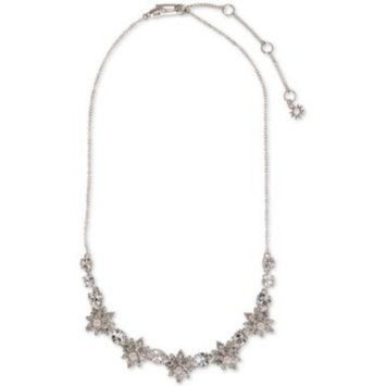 Silver-Tone Crystal & Imitation Pearl Statement Necklace, 16