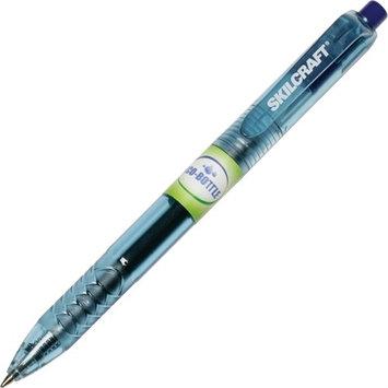 Skilcraft Retractable Gel Pen, .7mm, Blue