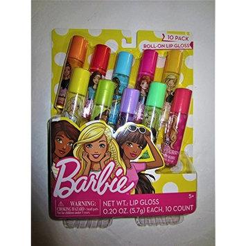 Barbie 10 Pack Flavor Roll-On Girl's Lip Gloss