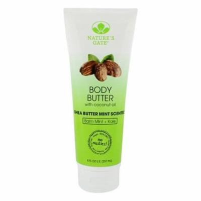 Body Butter with Coconut Oil Shea Butter Mint - 8 fl. oz. by Nature's Gate (pack of 2)