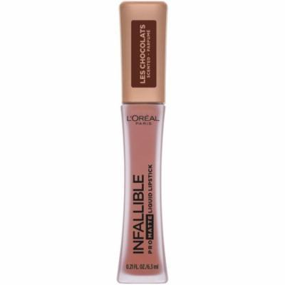 L'Oreal Paris Infallible Pro Matte Les Chocolats Scented Liquid Lipstick, Dose of Cocoa