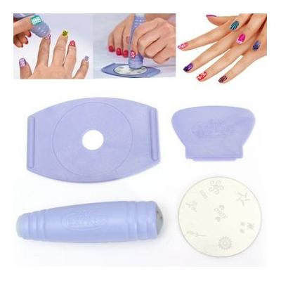 Decoration - Nail Tools - Nail Art Tools Stamper Scraper Decals Diy Kit Set Decoration Plate Nail Ornamentation Home Plate Home Base Ornament - 1PCs
