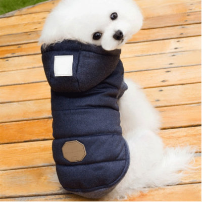 Newstar Cold Weather Warm Vest Pet Coats for Puppy, NAVY BLUE Pet Winter Cotton Hoodies Coat for Small/Medium/Large Dogs, N08NAXL Pet Clothes for Dogs (S-5XL)