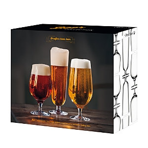 Orrefors Beer Collection Lager, Pils, and Taster 3 Piece Set