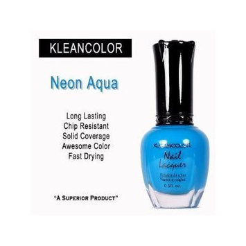 Kleancolor - Nail Polish - Neon Aqua by mad4cosmetics