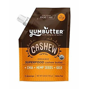 Yumbutter Cashew Butter, Organic, Superfd - (Case of 6 - 6.8 oz)