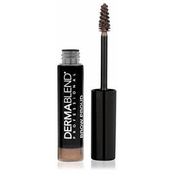 Dermablend Brow Proud Filling Fiber Eyebrow Gel Smudge and Transfer Resistant, Soft Brown