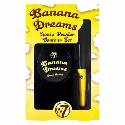 W7 Banana Dreams Loose Powder Contour Set with Brush
