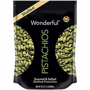 Wonderful Shelled Pistachios (24 oz.) (pack of 6)