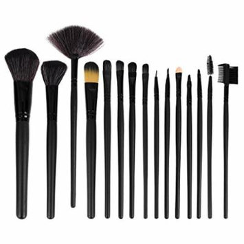 uxcell® 15pcs Pro Makeup Brushes Set Eyeshadow Eyeliner Lip Brush Powder Foundation Tool