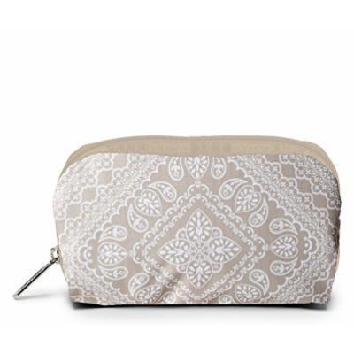 LeSportsac Boxed Rectangular Cosmetic Case (Bandana Lace Khaki)