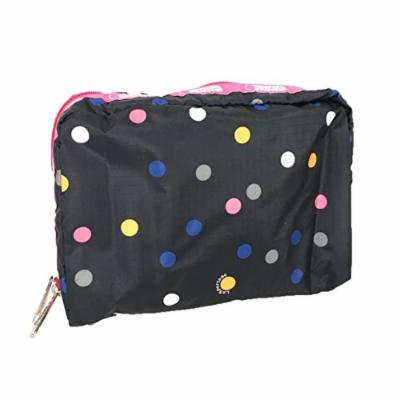 LeSportsac Classic Extra Large Rectangular Cosmetic Case (Litho Dot Pink)