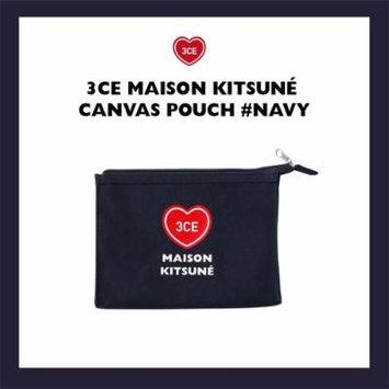 3CE x Maison Kitsune Canvas Pouch NAVY / pouch bag / makeup pouch