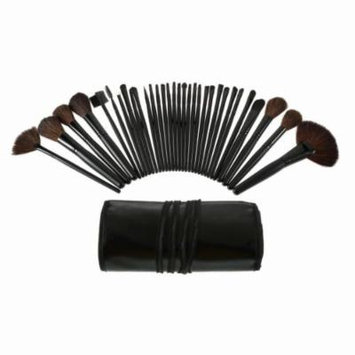 New MTN-G 32pcs Pro Makeup Brush Set Eyeshadow Powder Cosmetic Tool Black leather Case HL