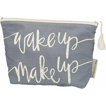 Primitives by Kathy Zipper Pouch Handbag Cotton Zip up Makeup Bag (Wake Up Make Up)
