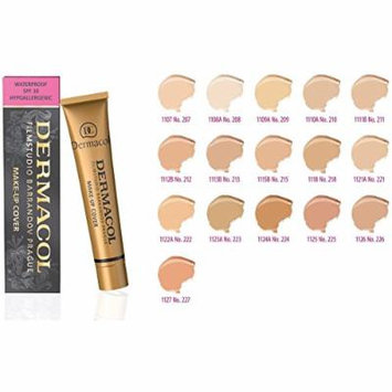Dermacol Make-up Cover - Waterproof Hypoallergenic Foundation 30g 100% Original Guaranteed (BUY 3 AND GET 15ml SATIN MAKEUP BASE FREE) (225)