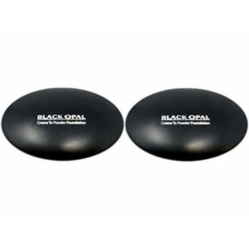 Set of 2 Black Opal True Color SPF 15 20 Au Chocolat Creme to Powder Foundation 027811021710