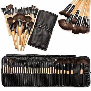 Makeup Brush Tool Set Kit Bag Professional Soft Cosmetic Eyebrow Shadow 32pcs