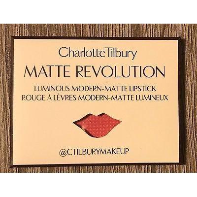 CHARLOTTE TILBURY MATTE REVOLUTIION X50 POCKET SWATCHES AMAZING GRACE SAMPLES