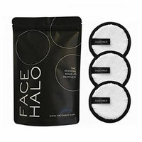 FACE HALO Makeup cleanser puff 3EA / Makeup cleanser ONLY USING WATER / no need chemical remover