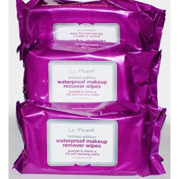 LA Fresh Limited Edition Waterproof Makeup Remover Wipes (3 Pack)