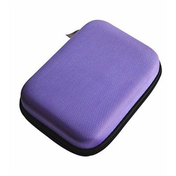 10 Bottles EVA Essential Oil Case Holds with four Colors (purple) (purple)