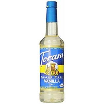 Torani Sugar Free Syrup; Vanilla; 25.4 Ounce (pack of 4); New; Free Shipping