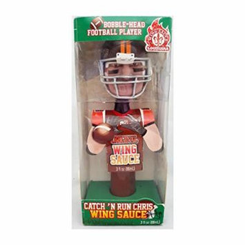 Louisiana Hot Sauce Bobble Head Catch N Run Chris Wing Sauce 3 oz.
