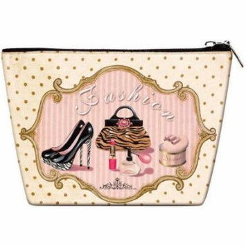 Women Travel Cosmetic Bag , Makeup case organizer , toiletry bag , Vintage Queen style , ideal for storage lipstick, makeup brushes , manicure pedicure , for handbag 1 count