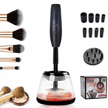 Electric Makeup Brush Cleaner and Dryer, Miss Gorgeous Deep Clean in Seconds and Dry in 360 Rotation, Electric Automatic Makeup Brushes Cleaner Tools for All Sizes Makeup Brushes (Black)