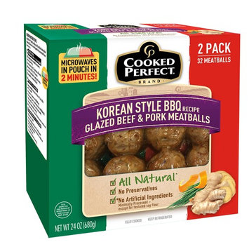 Cooked Perfect Korean Style Glazed Beef and Pork Meatballs, 2 pk./16 ct.