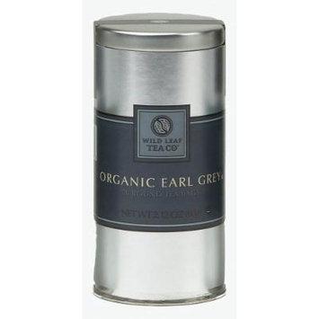 Wild Leaf Tea's Tin of 30 Rounded Tea Bags, Organic Earl Grey