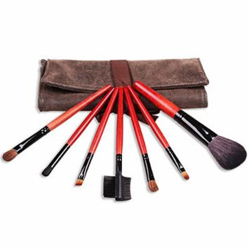 Studio Quality Professional Cosmetic Brush Set by MeGaGa, 7 Count with Travel Pouch Bag